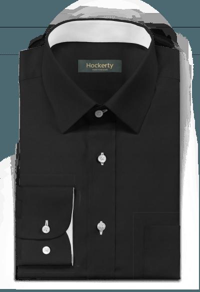 черная хлопковая рубашка