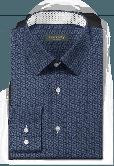 Blaues paisleymuster Hemd aus Baumwolle
