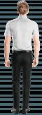 Chemise blanche manches courtes 100% coton-Vue Dos