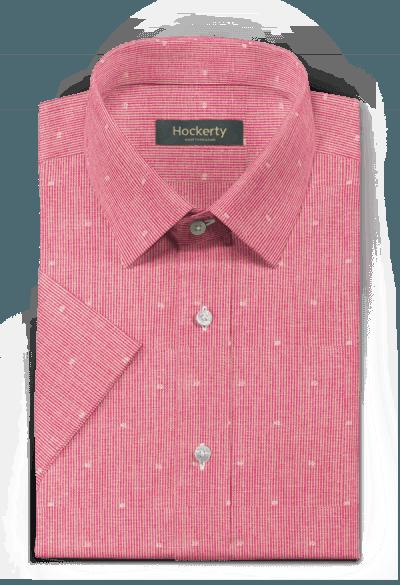 Pink short sleeved striped linen Shirt