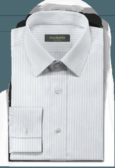 Blue french cuff striped linen Shirt