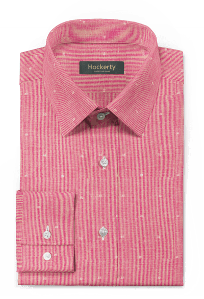 Chemise rose à rayures en lin