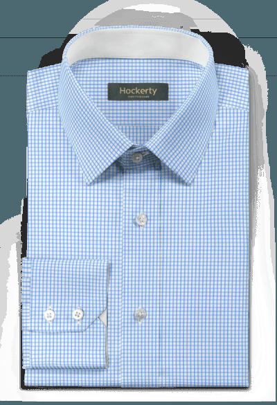 Blue checked 100% cotton Shirt