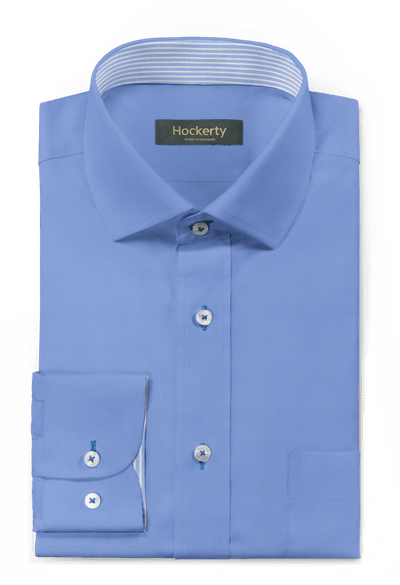 Camisa Azul Claro Labrado dobbyde algodón mao 62€ | Hockerty