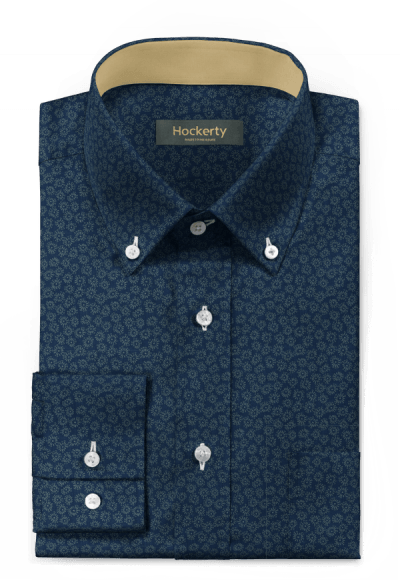 Blue floral 100% cotton Shirt