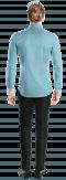 Camicia oxford blu-Vista Posteriore