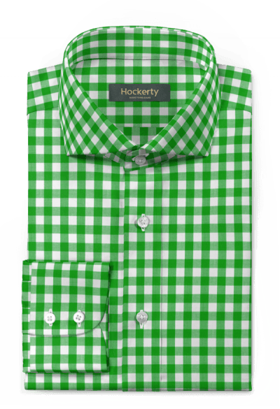 Green checked 100% cotton Shirt