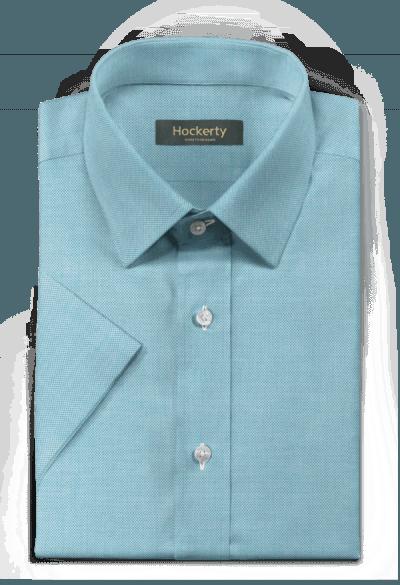 Blue short sleeved oxford Shirt