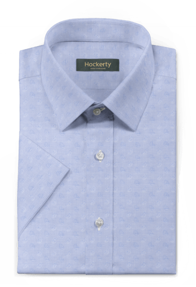 Blue short sleeved paisley 100% cotton Shirt