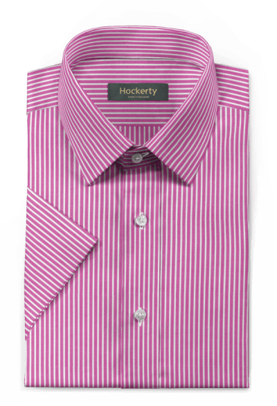 Purple short sleeved striped 100% cotton Shirt