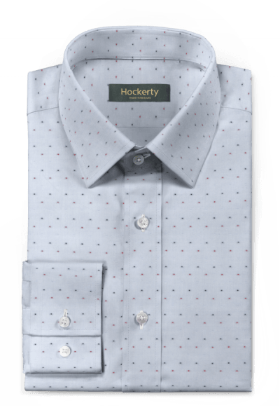 Blaues punktmuster Hemd aus Baumwolle