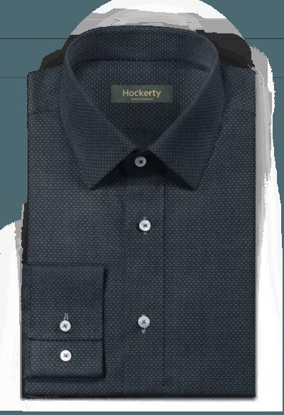Chemise bleue à pois 100% coton