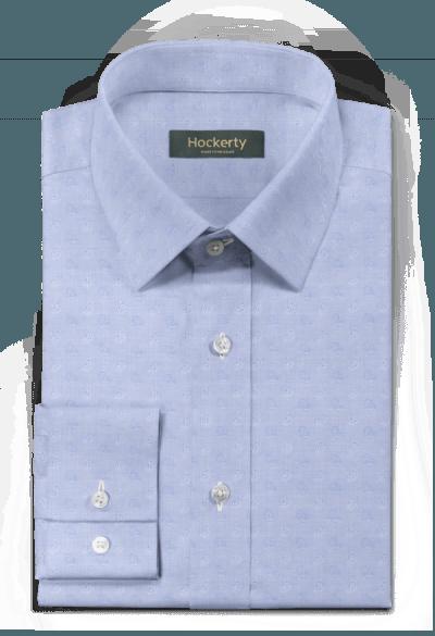 синяя хлопковая рубашка с рисунком