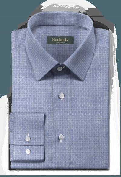 Blue dotted 100% cotton Shirt