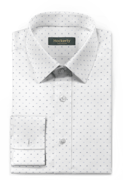 White french cuff dotted 100% cotton Shirt