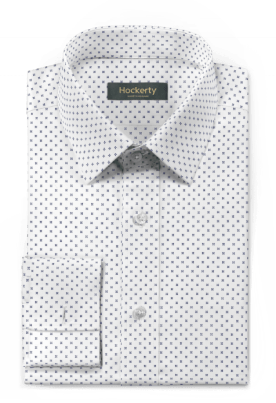 White french cuff micropattern 100% cotton Shirt