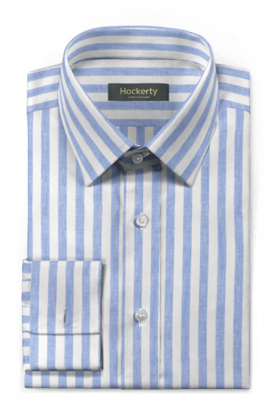 Blue french cuff striped linen Shirt