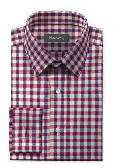 French cuff checked 100% cotton Shirt