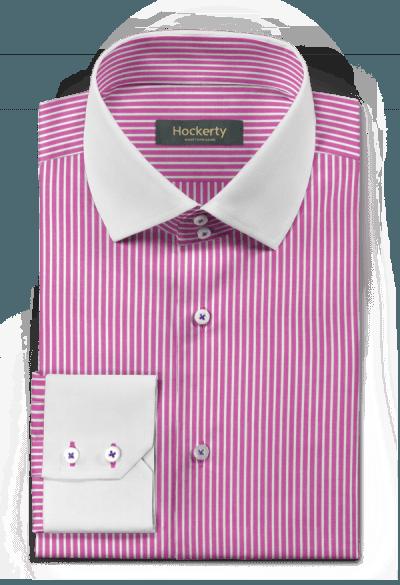 Purple striped 100% cotton Shirt