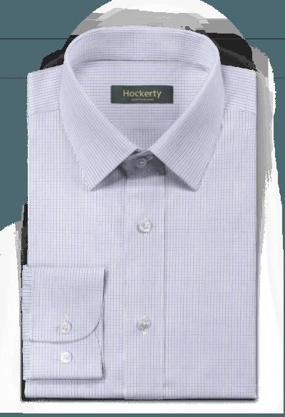 Blaues kariertes Hemd aus Baumwolle