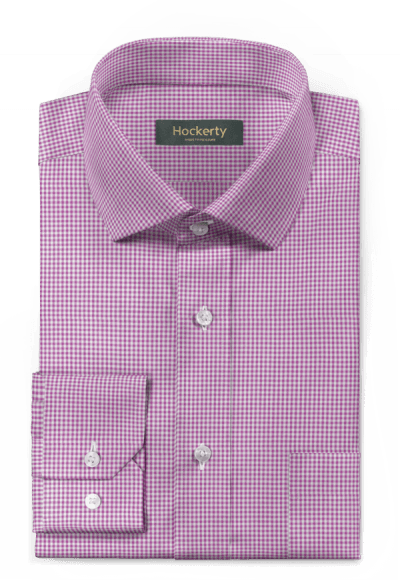 Purple checked 100% cotton Shirt