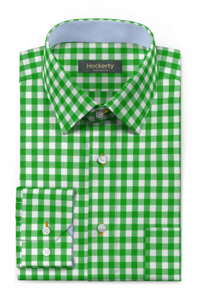 Camicia verde a quadri 100% cotone