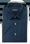 Chemise bleue manches courtes à motif floral 100% coton-folded