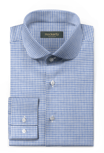 Blue checked linen Shirt