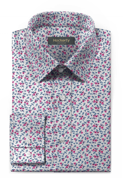 Pink floral 100% cotton Shirt