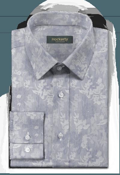 Camicia blu floreale 100% cotone