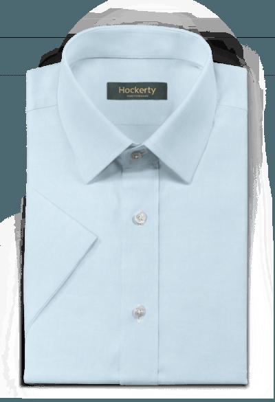 Chemise bleue manches courtes à carreaux 100% coton
