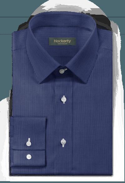 Chemise bleue à carreaux 100% coton