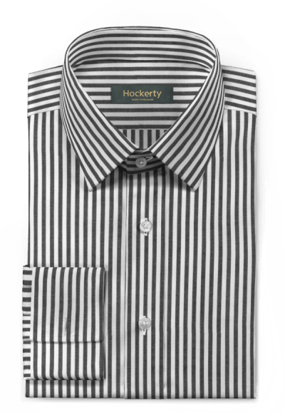 Black french cuff striped 100% cotton Shirt