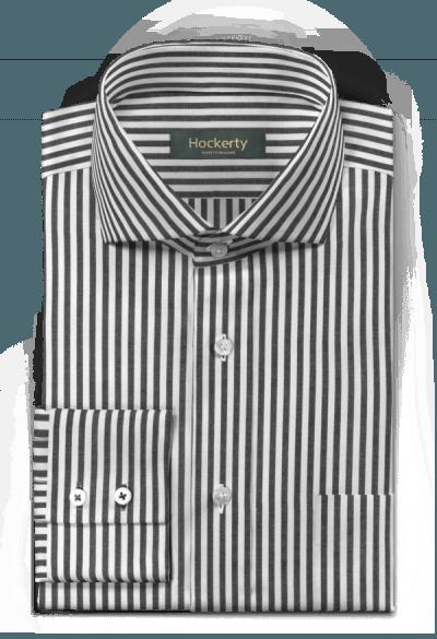 Chemise noire à rayures 100% coton