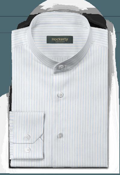 Chemise bleue à rayures en lin