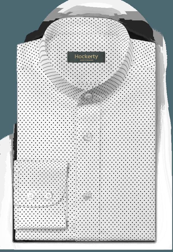 Camicia bianca a pois 100% cotone
