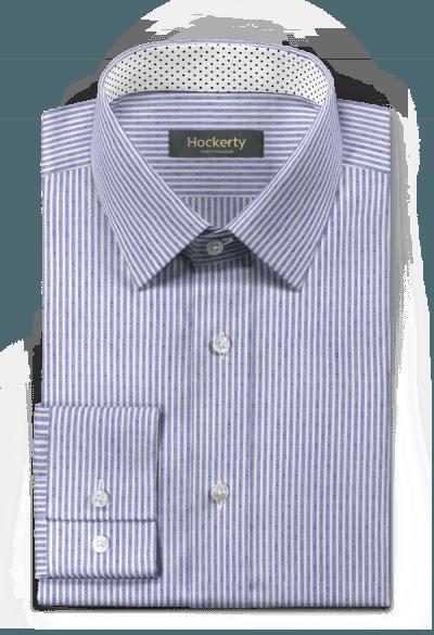 Chemise bleue à rayures 100% coton