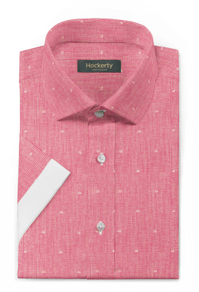 Pink short sleeved striped linen Shirt