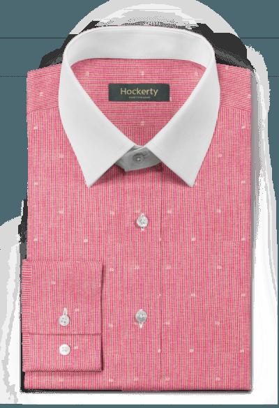 Pinkes gestreiftes Hemd aus Leinen