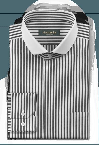 Black striped 100% cotton Shirt