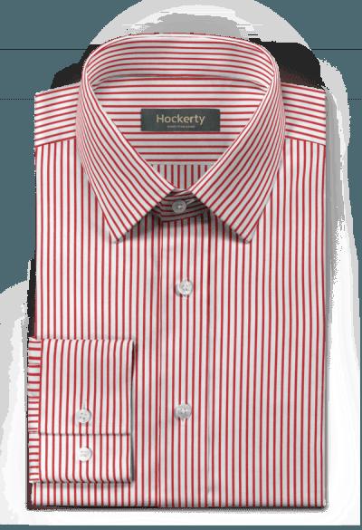 Rotes gestreiftes Hemd aus Baumwolle