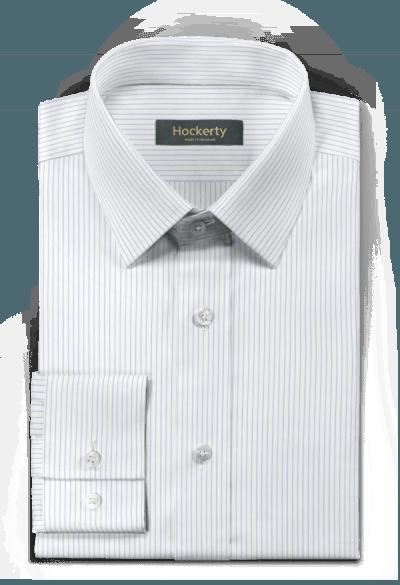Camicia bianca gessata 100% cotone