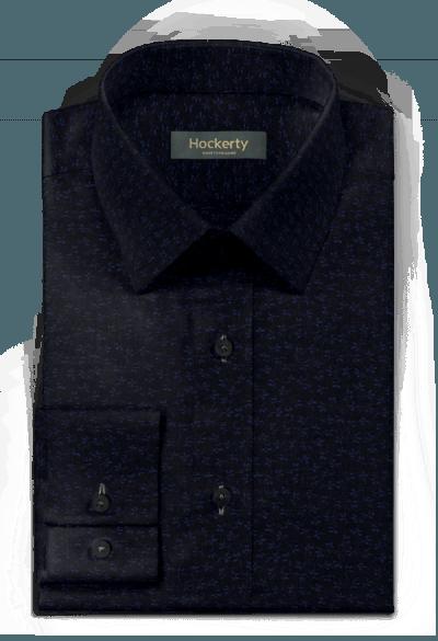 Blaues blumenmuster Hemd aus Baumwolle