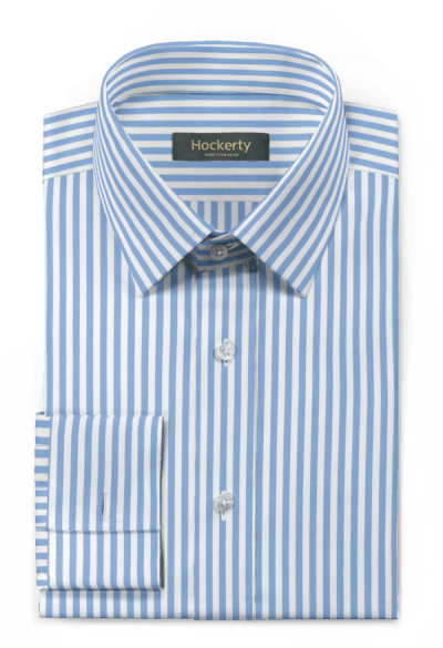 Blue french cuff striped 100% cotton Shirt