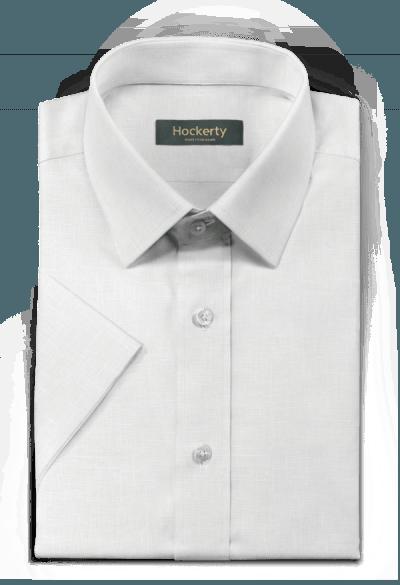 Chemise blanche manches courtes en lin