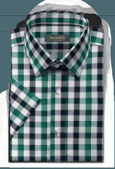 Kurzärmliges denim Hemd aus Baumwolle