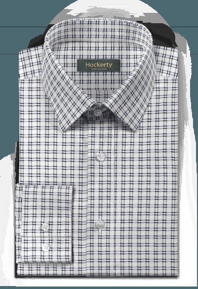 Chemise blanche à carreaux 100% coton