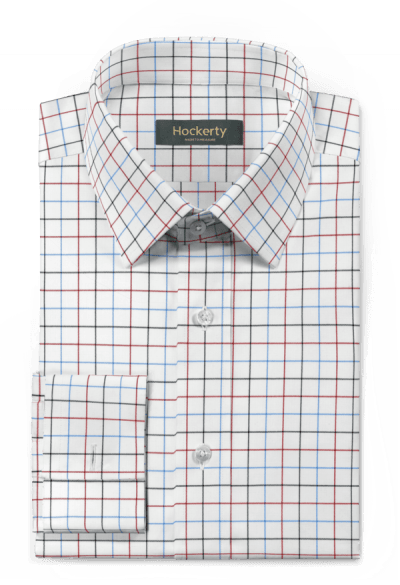 White french cuff checked 100% cotton Shirt