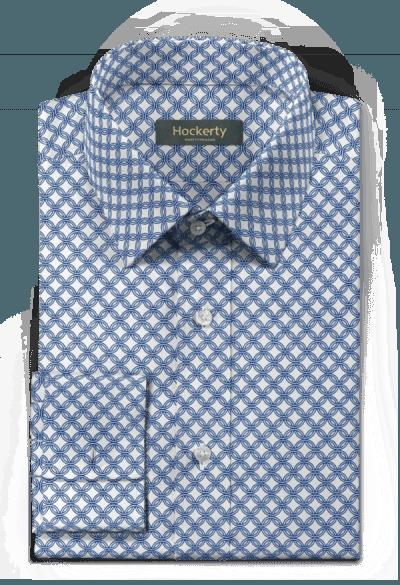 Blaues Hemd mit Umschlag & aus Baumwolle