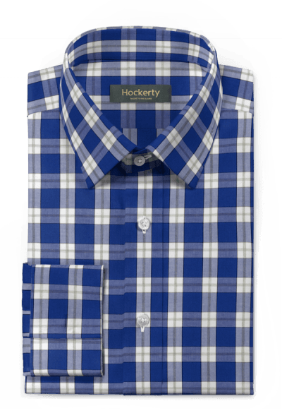 Blue french cuff checked 100% cotton Shirt